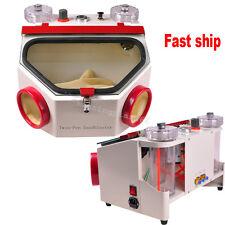 Dental Lab Equipment Double Pen Fine Sandblaster Unit Clinic Dentist 220v/110v