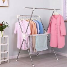 Foldable Clothes Laundry Drying Rack Clothing Hanger Airers Garment Clothesline