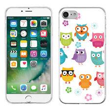 Slim TPU Gel Phone Case for Apple iPhone 7 - Happy Owl