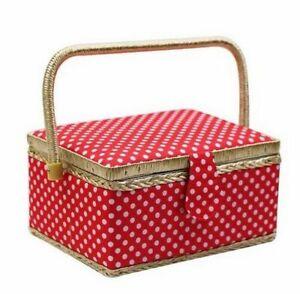 Storage Box Set For Sewing Tools Organizer Kit Fabric Knitting Accessory Basket