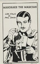 MANDRAKE THE MAGICIAN Lee Falk-Davis  King Features Exhibit Arcade Card