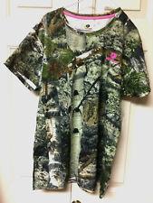 New~Womens~Mossy Oak~Aspen Tree Camo~T-Shirt~Short Sleeve~Sz Large~Greens~White