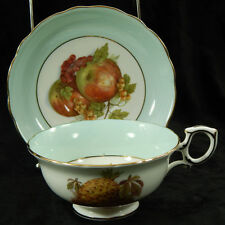 Hammersley Footed Tea Cup & Saucer Set Hand Painted Numbered Vintage 1910's