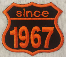 Patch Aufnäher Jahreszahl since 1967 Biker Hot Rod Custom