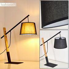 Holz Lese Nacht Tisch Lampe Leuchte Vintage Wohn Schlaf Raum Beleuchtung schwarz