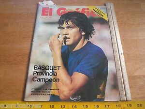 El Grafico Magazine Boca Soccer Argentia futbol Auto Racing 1972 Basquet boxing