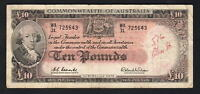 Australia R-63.. (1960) Ten Pounds - Coombs/Wilson.. Reserve Bank..  Fine