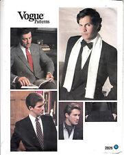 Vogue 2826 Men Neckties Bow Tie Ascot Scarf Cummerbund Sewing Pattern