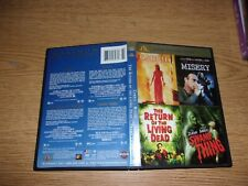 CARRIE / MISERY / THE RETURN OF THE LIVING DEAD / SWAMP THING (4 DVD) VERY RARE