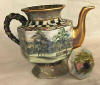 Mackenzie Childs Hand-Painted Teapot