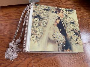 Terra Traditions Wedding Bride Photo Album w/ Swarovski Crystals