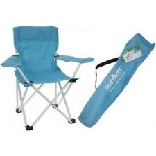 Kids Turquoise Summit Folding Camping Chair - Outdoor Carry Bag Festival