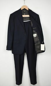SUITSUPPLY NAPOLI SINGLE BREASTED Men UK38S 110'S Wool Blue 2-Piece Suit 17411