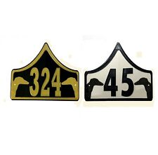 Greyhound House Door Number Plaque -Garden Gate Dog Sign (0 to 999)