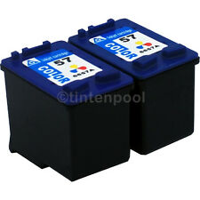 2 Patronen für HP C6657AE DeskJet 450 CBI