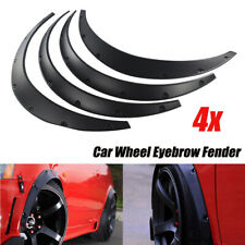 4X Universal SUV Car Body Fender Flares Flexible Durable Polyurethane Kit Black