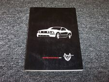 2009 Ford Mustang Owner Owner's Operator User Guide Manual GT 4.0L 4.6L V6 V8
