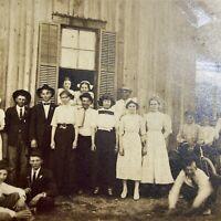Antique Postcard Large Family Gathering RPPC Real Photo NOKO 1907-1929