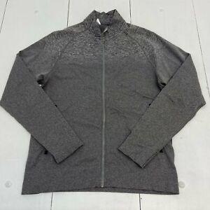 LuLuLemon Gray Zip Up Active Athletic Jacket Men Size Large