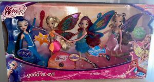 Winx Club Good Vs. Evil Target Exclusive 4 Pack Icy Stella Bloom & Flora Dolls