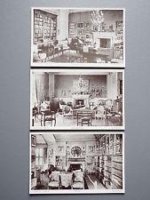 R&L Postcard: Lauriston Castle Edinburgh, Library/Drawing/Dining Room