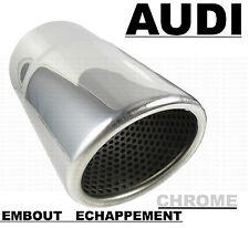 AUDI A1 A3 A4 A5 Q3 Q5 TT EMBOUT CHROME SORTIE ECHAPPEMENT TUBE SILENCIEUX 70mm