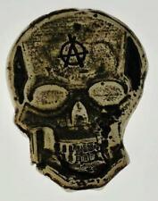"""1 oz  MK BarZ """"Anarchy Skully Bit""""  Hand Poured & Stamped .999FS"""