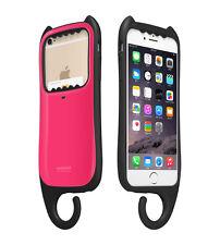 "myCat iPhone 6/6s Plus 5.5"" Cover Case Card Pocket Hanger KOREA - Hot Pink"
