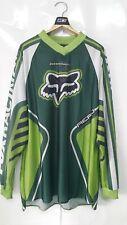 Vintage Motocross FOX Racing Aero Kawasaki KX js7 rc4 Long Sleeve T-Shirts SizeL