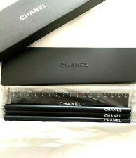 CHANEL pen case,ruler,3 pencils novelty,Brand new From Japan Black
