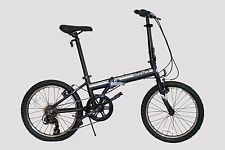 "EUROMINI-ZIZZO CAMPO 20"" 7-SPEED ALUMINUM FRAME FOLDING BICYCLE"