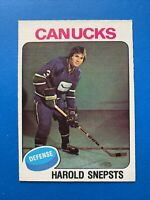 Harold Snepsts ROOKIE 1975-76 O-Pee-Chee OPC Hockey Card #396 Vancouver Canucks