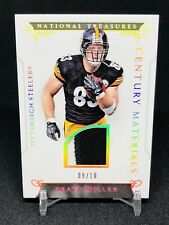 2016 National Treasures Heath Miller Patch Non Auto SP /10 Pittsburgh Steelers