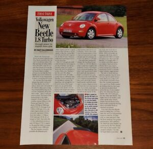 VOLKSWAGEN NEW BEETLE 1.8T MAGAZINE ARTICLE TURBO POWER TO EXPLOIT MORE GRIP