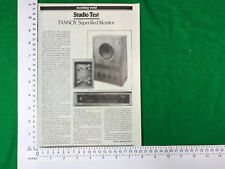 Tannoy Super Red Monitor vintage article / review studio test 1980