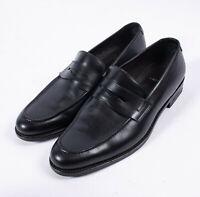 Lacoste Mens Designer Black Slip On Leather Loafers - Size US 10 / EUR 43 / UK 9