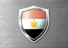 Egypt flag shield sticker 3d effect quality 7 year water & fade proof