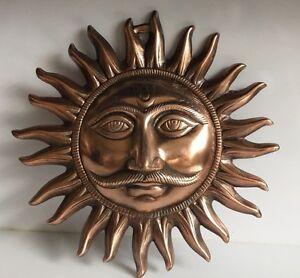 Large 10'' Sun Face Ornament Sun Mask Plaque wall hanging Buddha Garden