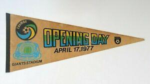 Vintage 1977 New York  NY Giants Stadium Opening Day Cosmos NASL Sports Pennant