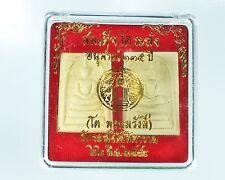Great Amulet Dual Phra Somdej Wat Rakang Memorial 135BE Buddha Sacred Old LP.Toh