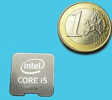INTEL CORE i5  METALISSED CHROME EFFECT STICKER LOGO AUFKLEBER 18x18mm [654]