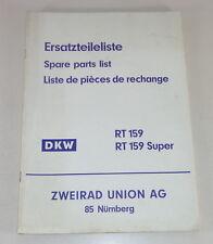 Teilekatalog / Ersatzteilliste DKW RT 159 / RT 159 Super