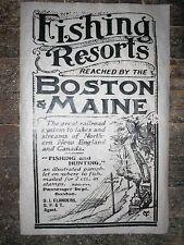 "(343) RAILROAD BOSTON & MAINE NEW ENGLAND FISHING HUNTING RESORT POSTER 11""X17"""