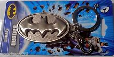 Batman Pewter Logo DC Comics Bat Signal Key Chain Ring Charm Bag Clip NWT