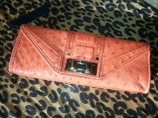 NEW Rebecca Minkoff Ostrich Leather Clutch