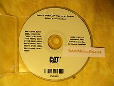 SEBP1538 CAT Caterpillar D4H & D4H LGP Tractor Dozer Parts Manual Book CD