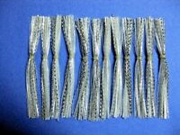 25 Silicone Skirt Silver Shad Scale  spinner bait musky pike spinner tackle lure