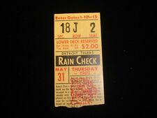 May 31, 1962 Chicago White Sox @ Detroit Tigers Ticket Stub EX