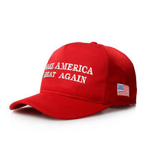 Make America Great Again Hat Donald Trump 2016 Republican Hat Cap Red Black Flag