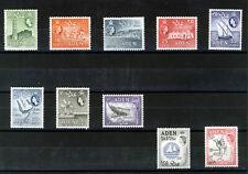 ADEN 1964 DEFINITIVES SG77/86 BLOCKS OF 4 MNH